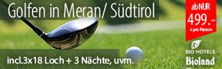Golfen in Meran Südtirol, 3x18 GOLF, 3Ü